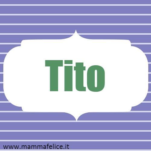 Etichetta nome bambino Tito