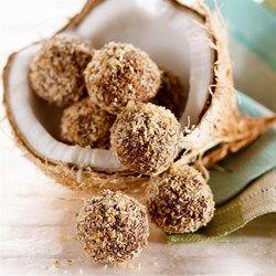 Coconut-Dark Chocolate Truffles - EatingWell.com
