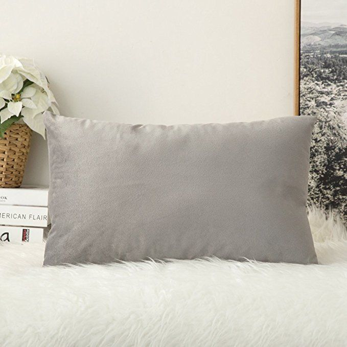 Miulee Velvet Soft Soild Decorative Square Throw Pillow Covers Cushion Case For Sofa Bedroom Car 12 X 20 Inc Pillow Covers Velvet Cushions Velvet Pillow Covers
