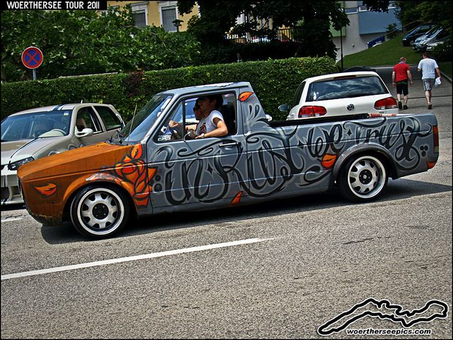 """VW Caddy Mk1 Pickup ratlook """"In Rust We Trust"""" by retromotoring, via Flickr"""