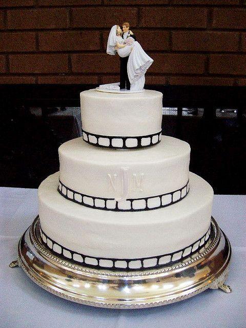 movie themed wedding   filmstrip wedding cake   Flickr - Photo Sharing!
