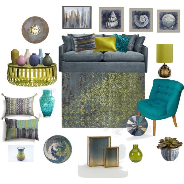 Wonderful A Home Decor Collage From March 2014 Featuring Slip Cover Sofa, Teal  Furniture And Kartell Furniture. Browse And Shop Related Looks. Part 7