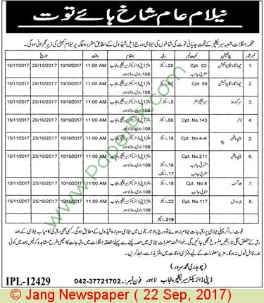 Forest Department Lahore Jobs