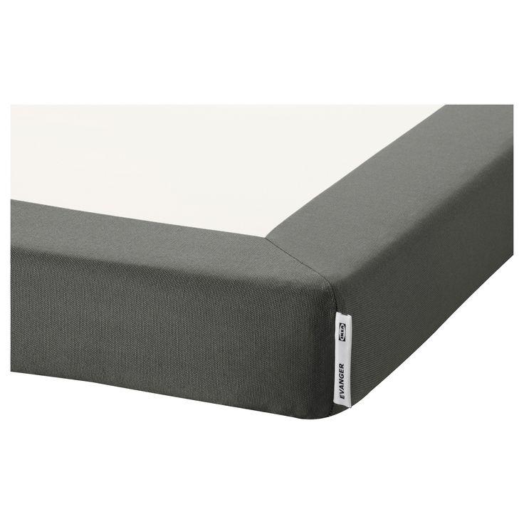 EVANGER Support matelas - 90x200 cm, gris foncé - IKEA