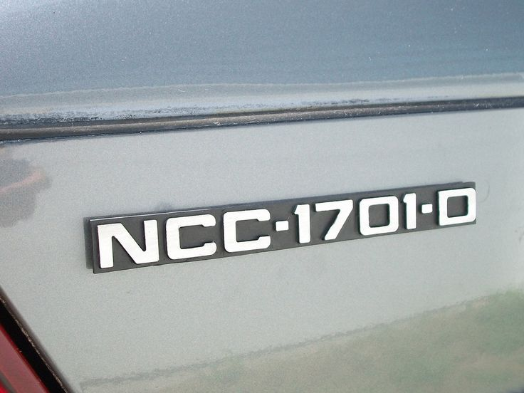 NCC-1701-D Custom Car Emblem. $12.00, via Etsy.