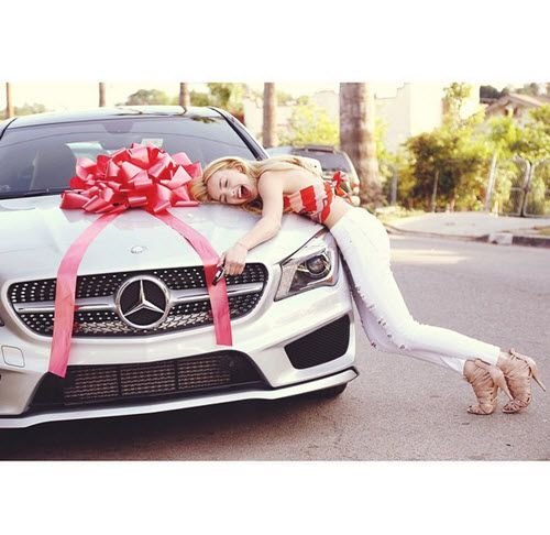 Peyton List on her 17th Birthday! She got a car and was obvi super happy haha