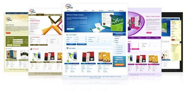 Flexi #webtoprint Storefront have embedded high quality, royalty free, professional quality print-ready templates for your client to choose from!