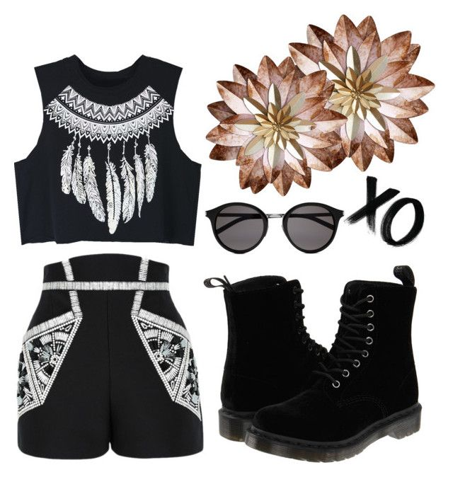 """Untitled #58"" by anicute on Polyvore featuring WithChic, sass & bide, xO Design, Yves Saint Laurent and Dr. Martens"