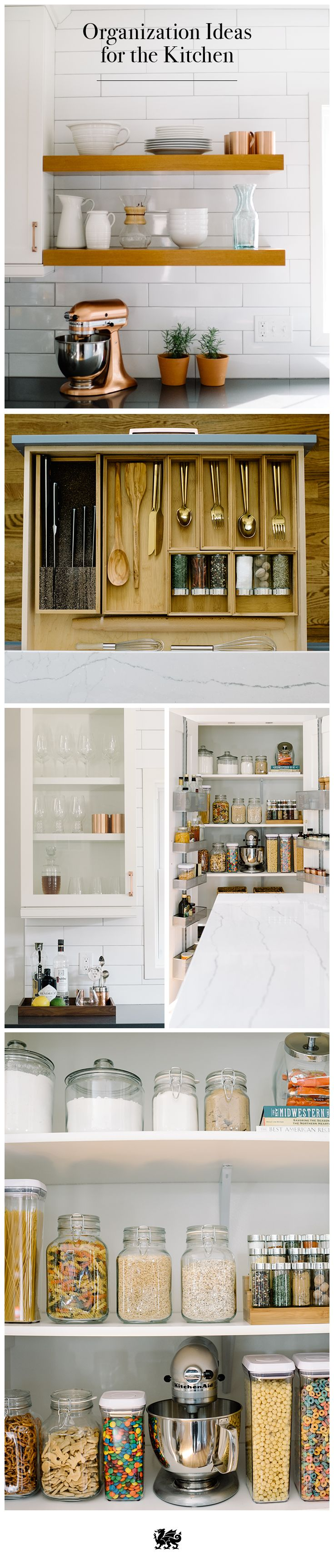 From sleek open shelving to hidden spice drawers, we have a few tips to organize your kitchen. Click to learn how simple it can be!