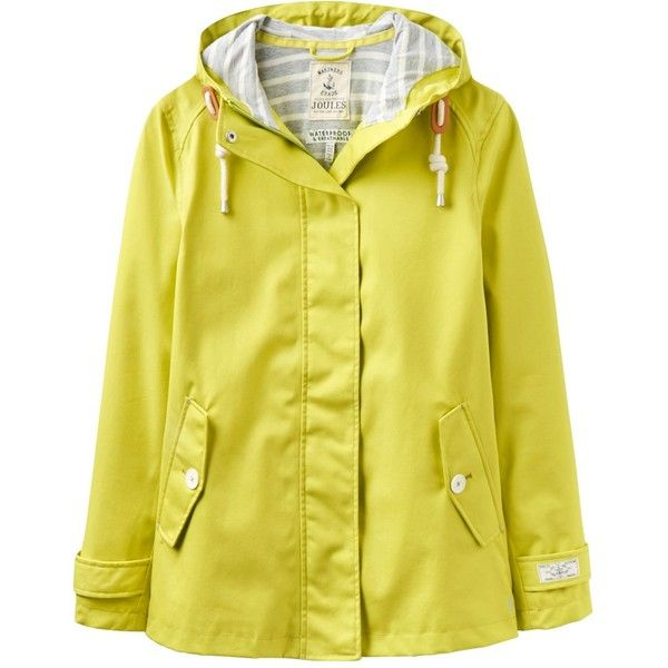 Joules Waterproof hooded jacket (7.115 RUB) ❤ liked on Polyvore featuring outerwear, jackets, green, women, yellow jacket, lined jacket, water proof jacket, waterproof jacket and hooded jacket