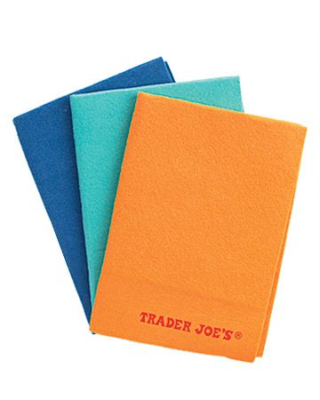 Trader Joe's Washable viscose cloths--soak up 10 times their weight in liquid;