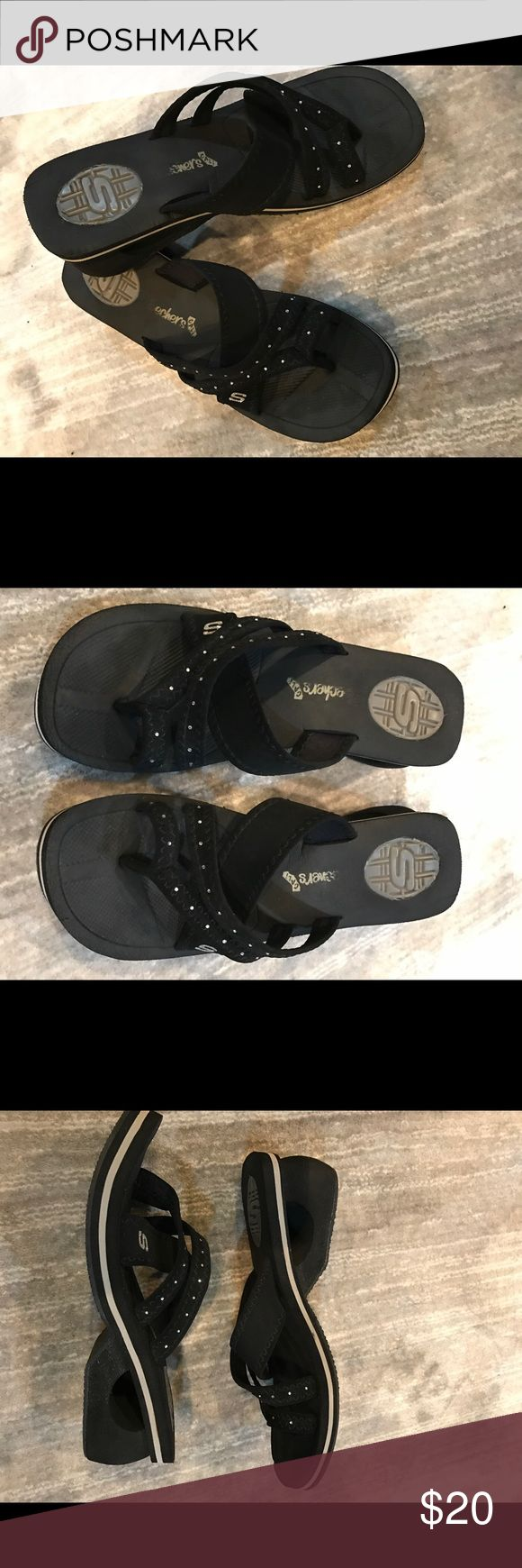 Skechers black wedges, excellent condition size 9 Skechers  black badges in very good condition size 9 Skechers Shoes Slippers