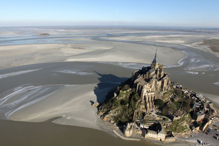 Mont-Saint-Michel, a tourist attraction and UNESCO world heritage site in northwestern France, seen on February 2, 2012.