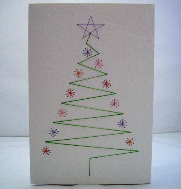 Easy Beautiful Christmas Cards Yourself Crafts Drawing