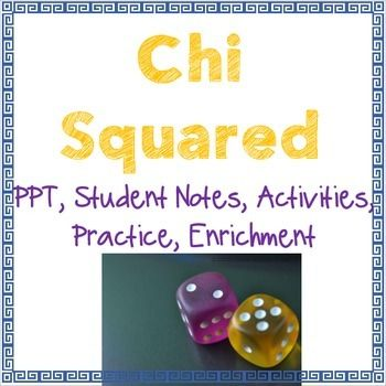 Chi SquaredTeaching Chi Squared to a Stats class or AP Bio and not sure where to start?! Well, you found it. This pack includes a PPT introduction, complete with student fill-in-the-blank notes, that walk students through the steps of Chi Squared and gives them a general overview of how and why we use this test.