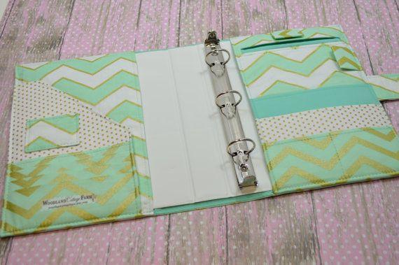 3 Ring Binder Cover - In Michael Miller Glitz Fabric