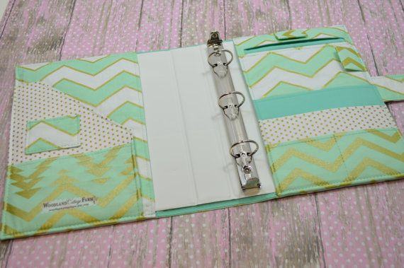3 Ring Binder Cover - In Michael Miller Glitz Fabric