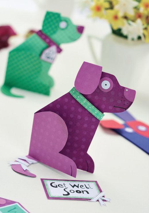 Dog Card Blank Motif