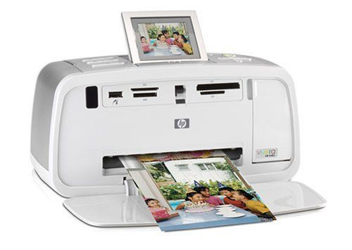 HP Photosmart 475 Compact Photo Printer (Q7011A#ABA) by HP. $380.00. From the Manufacturer                Trust your memories to HP, a proven leader in printing technology. The HP Photosmart 475 GoGo Photo Printer delivers the power of a PC in a printer. It's the only printer of its kind that stores photos—up to 1,000—using 1.5 GB of internal memory. A built-in handle makes this stylish printer easy to carry. Preview and edit shots on a 2.5-inch color display that f...