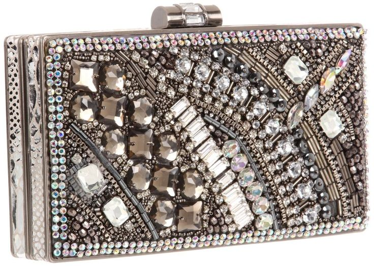 MARY FRANCES Movie Star Silver Beaded Bling Skin Bag Handbag Purse NEW ONLY 1 #MaryFrances #EveningBag