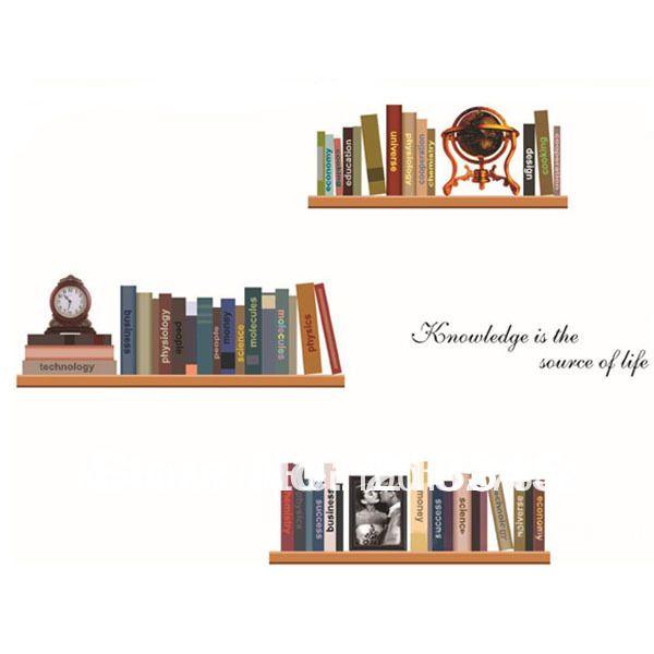 Barato [Sábado Monopólio] diy do vintage estantes criativas de decoração para casa adesivos de parede decoração adesivos para parede parede estante de livros, Compro Qualidade Adesivos de parede diretamente de fornecedores da China:    Informações básicas nome do produtomaterial:pvc de alta qualidadecommodity tamanho:50x70 cm (20x28in)efei