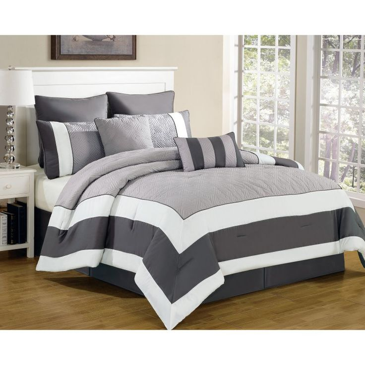spain 8 piece quilted comforter set by duck river textiles