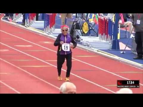 100 year old Ida Keeling sets the 100m World Record for the 10
