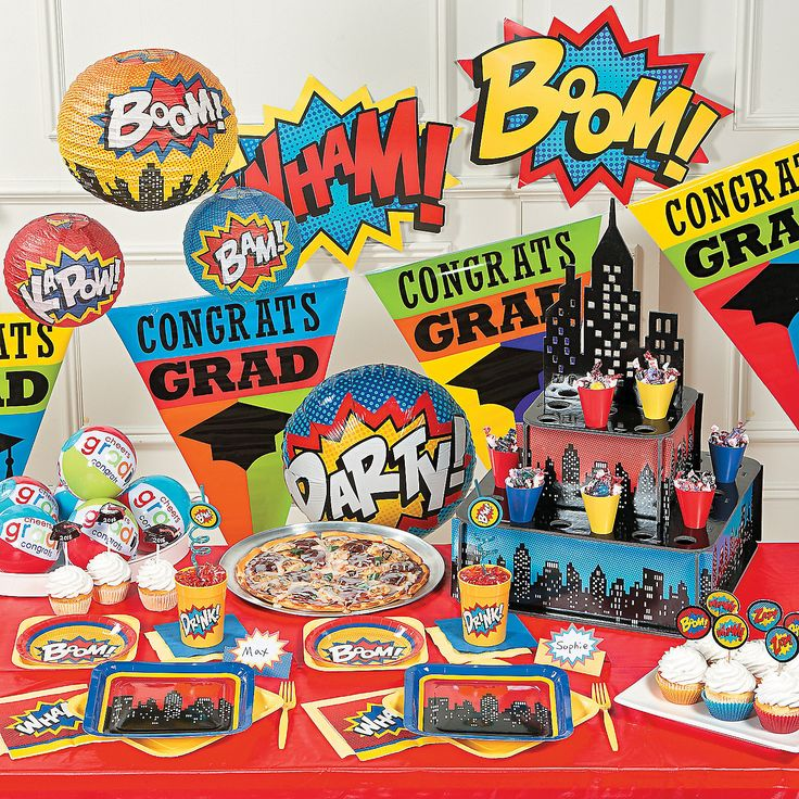 Superhero+Graduation+Party+Supplies+-+OrientalTrading.com