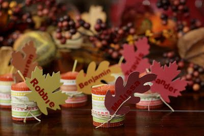 Easy #Thanksgiving Candle Name Card #craft #diy