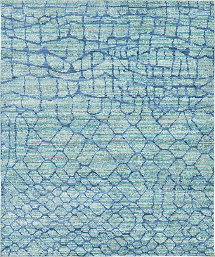 Light Blue 8' x 10' Aqua Rug | Area Rugs | eSaleRugs