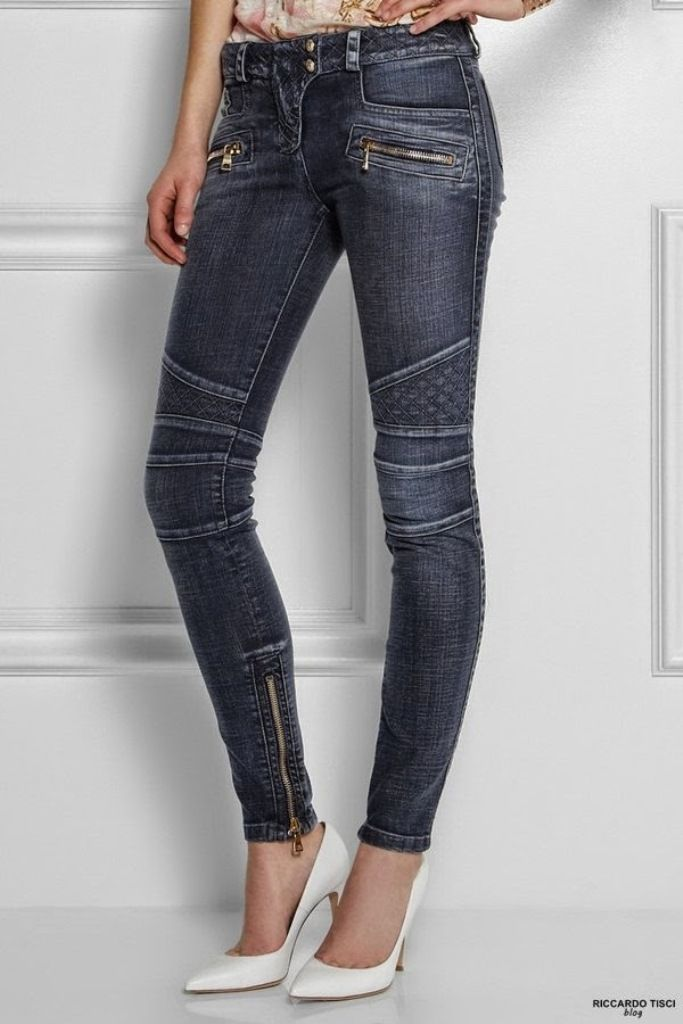 Top 10 Hottest & Newest Jeans Styles for 2015 ... balmain biker jeans motocycle womens collection online quilted 2015 shop net-a-porter luisaviaroma └▶ └▶ http://www.topteny.com/?p=5610