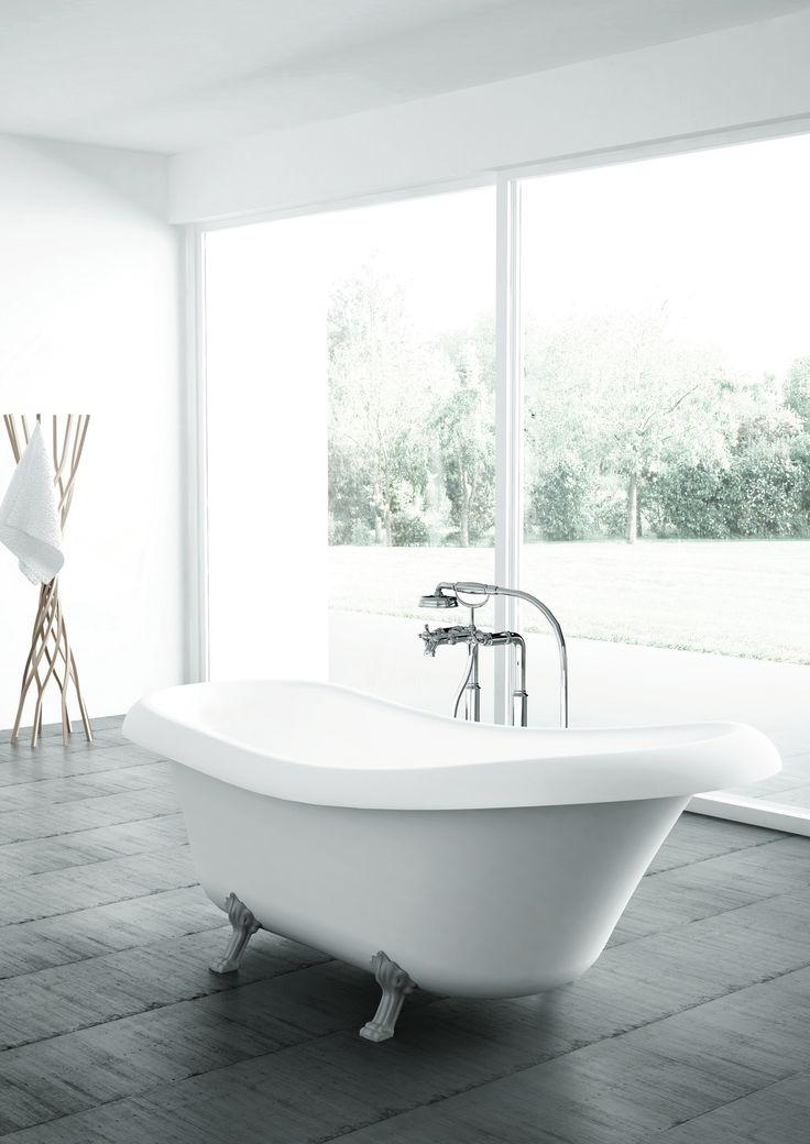 1000 id es sur le th me salle de bains avec baignoire for Salle de bain baignoire patte de lion