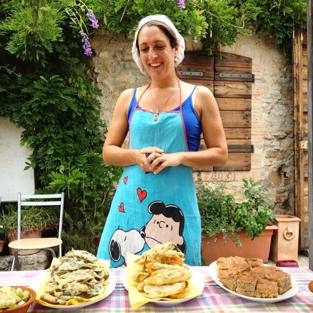 #Degustazione di prodotti tipici preparati da Arianna dell'#Agriturismo Il Leopoldino #FestadellaRocca