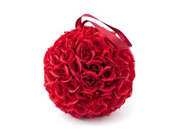 HANGING ROSEBALL RED M