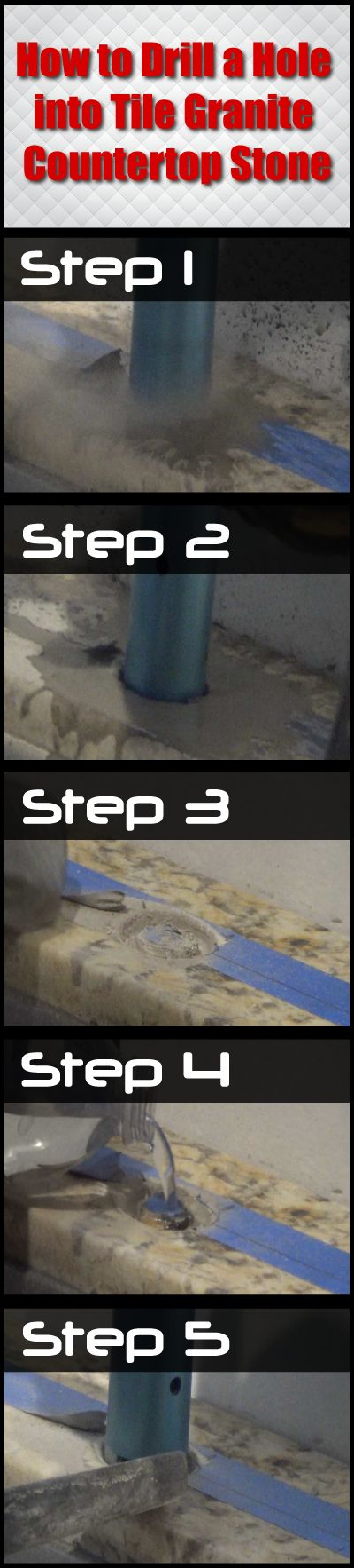 How To Drill A Hole Into Tile Granite Countertop Stone A