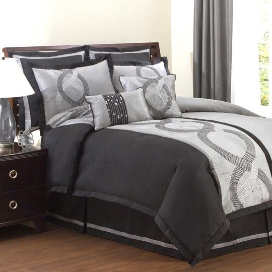 Talon 8 Piece Comforter Set Grey $200.00