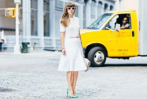 осенние образы с белой юбкой, стильный образ на каждый день, уличная мода осень 2015, street style, MsKnitwear, Knitwear (фото 9)