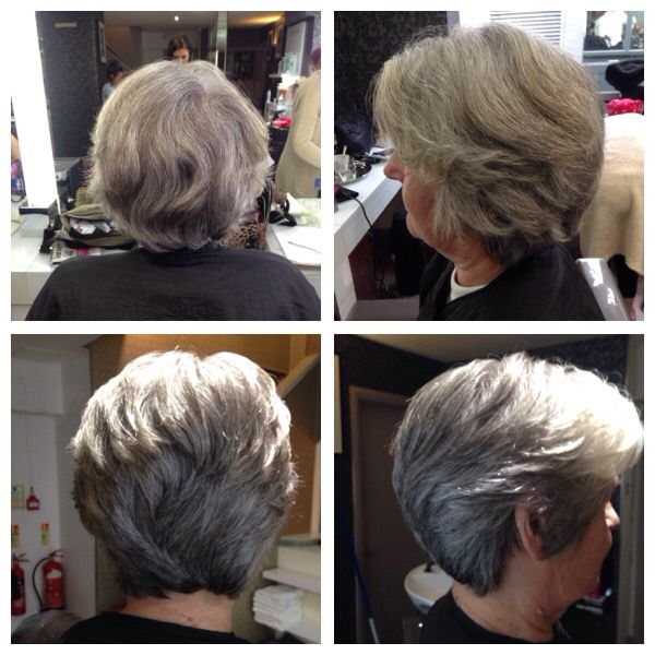Maintenance haircut  doing a slight graduation to start then continuing with a round layer throughout the rest..