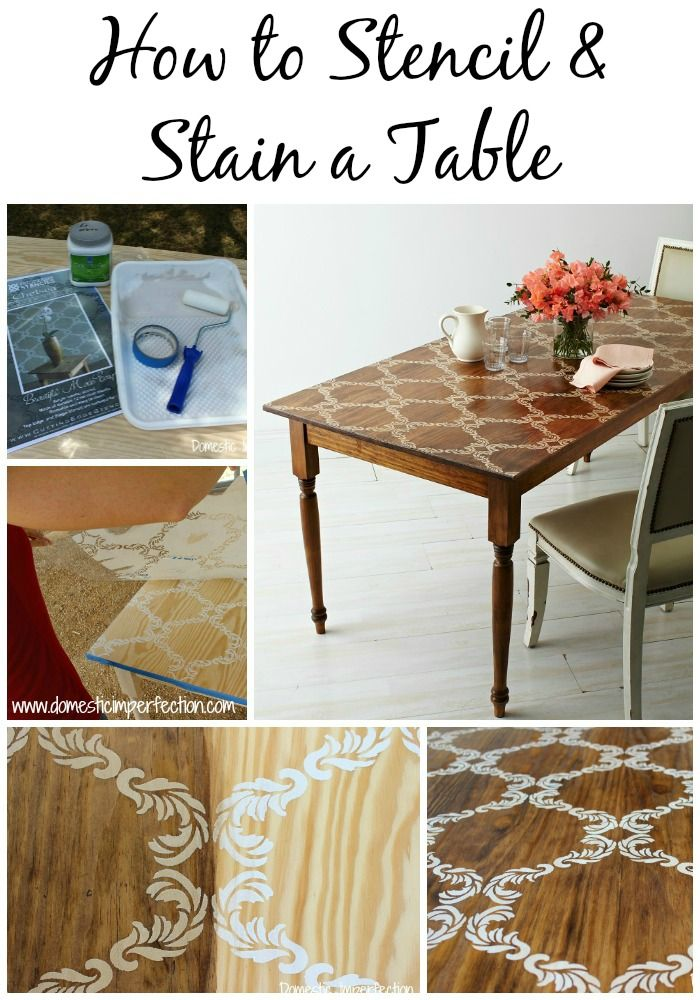 Step-by-step tutorial on how to turn a plain table into a beautiful work of art!