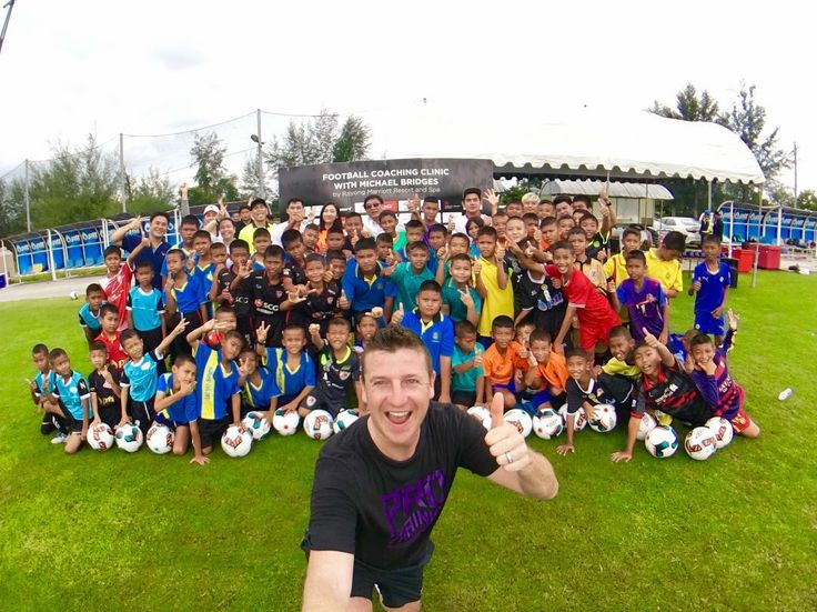 "Today Meet Michael Bridges in ""Football Coaching Clinic by Rayong Marriott Resort and Spa"" at IRPC Housing Stadium Rayong 9.00-15.00 Hrs.  He come for teach Rayong Student to become a profesional footballer in the future. See you guys there   #Rayongmarriott #ระยองแมรออท #ทพกระยอง #ระยองตองมา #Travelbrilliantly"