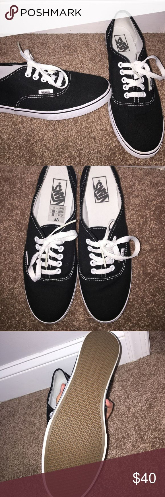 Black Vans Never worn, brand new black Vans! Women's 10, Men 8.5 Vans Shoes