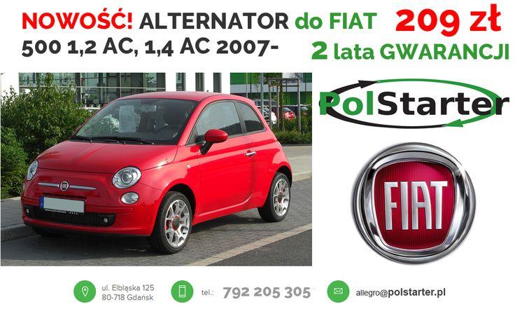 ⚫ Fiat 500 produkowany od 2007 roku to następca włoskiego klasyka, którego produkcję rozpoczęto już w latach 50. Alternator do współczesnego modelu dostępny jest na naszej aukcji. 🚗🚕🚙🚌🏎🚓🚑🚒🚐🚚🚜🚖🚘🚍🚔 ⚫ Tu kupisz alternator:  ➜ https://goo.gl/ZrFw9H ⚫ KONTAKT: 📲 792 205 305 ✉ allegro@polstarter.pl #alternator #fiat500 #częścisamochodowe