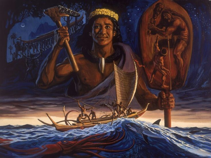 The Story of Laka, painting by Herb Kawainui Kāne. In Hawaiian mythology, Laka is the name of a popular hero from Polynesian mythology. (In other parts of Polynesia she is known as Rātā, Rata, Lata,Ata, or Lasa). Lengthy legends of her exploits extend throughout the islands, and the kings of Tahiti and Hawai'i claimed her as their ancestor. In the Hawaiian legend, Laka is the daughter of Wahieloa and Hinahawa'e. She plans to sail toHawaii to avenge the murder of her father, but her…