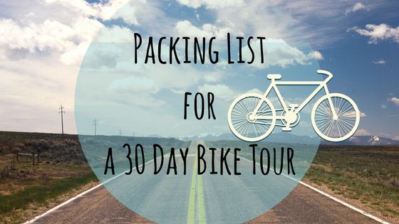 What to pack for a long Bike Tour? - Getting my Backing List together!:http://kungfuprincess-on-the-road.com/what-to-pack-for-a-long-bike-tour/