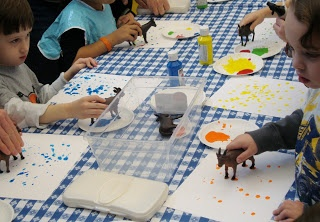 Miss Michelle @ MPL: Fun and Learning @ the Library: Three Billy Goats Gruff - Painting