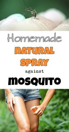 Homemade natural spray against mosquito.