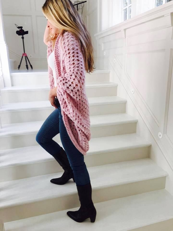 Easy Crochet Cocoon Cardigan Tutorial By: Annoo Crochet Designs Tutorial Link: click here You will need: 8 skeins Lion ...