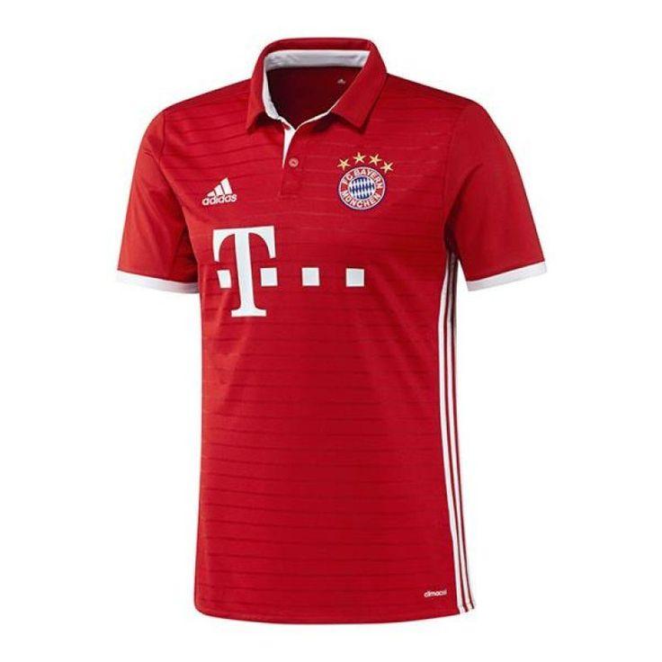 adidas FC Bayern München Trikot Home 2016/2017 Rot  Der FC Bayern München ist der mit Abstand erfolgreichste deutsche Fussballverein. Zudem ist der deutsche Rekordmeister der mitgliederstärkste Sportverein auf der Welt. Die Heimspiele trägt die Mannschaft um Torhüter Manuel Neuer in der heimischen Allianz-Arena vor über 71.000 frenetischen Fans aus und sie werden alles daran setzen, die Erfolgsgeschichte des FC Bayern fort zu führen.   Mit dem neuen, roten Heimtrikot werden die Bayern…