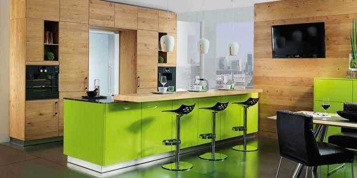 Lucca lime green, wild oak