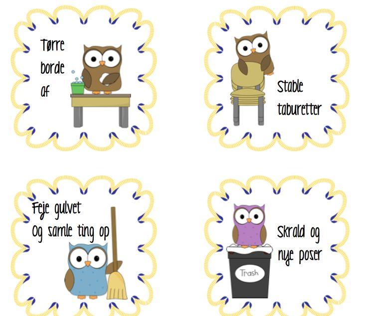 Dukseoversigt med ugler - Lærer til lærer